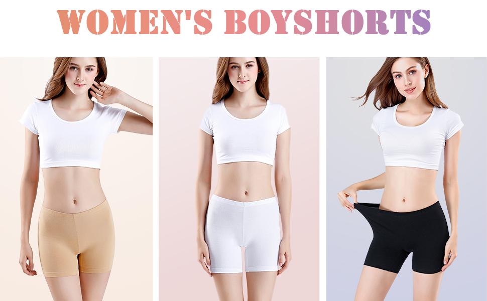 wirarpa Braguitas Algodon Mujer Cortos Pantalones Boxer Shorts Pack de 3 Negro Tamaño XXXL: Amazon.es: Ropa y accesorios