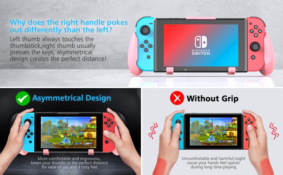 Nintendo switch grip pink