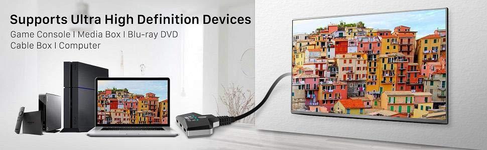 Fosmon 3-Port HDMI Switch
