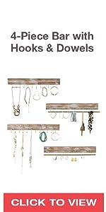 4-Piece Jewelry Bars