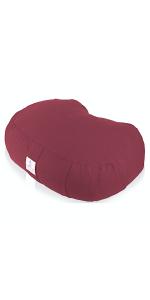 crescent yoga cushion