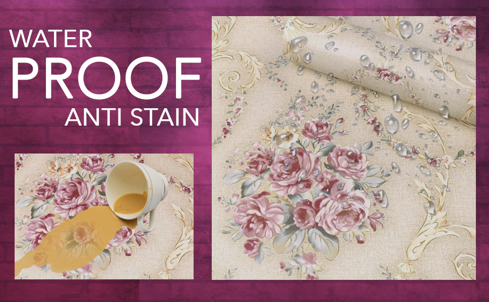 damask wall stickers wallpapers, DIY, wallpapers for walls bedroom, waterproof, anti stain