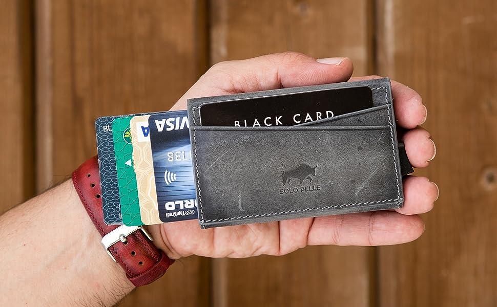 Kartenetui aus echtem Leder