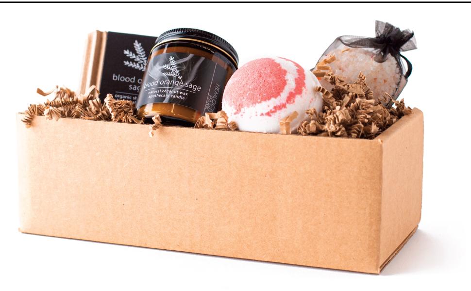 Blood Orange Sage Artisanal Spa Gift Box