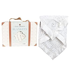 Zalamoon Luxie Pocket Plush Baby Toddler Blanket with Hook-and-Loop Fastener Strap