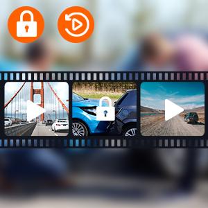 dashcam with loop recording