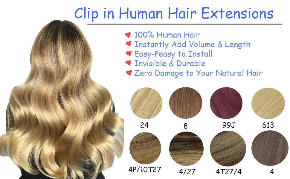 JIN-Clip120g-clip in human hair