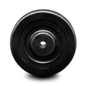 Service Caster, hard rubber wheel
