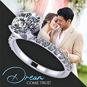 couple rings diamond ring cubic zirconia rings sterling silver ring engagement ring silver rings