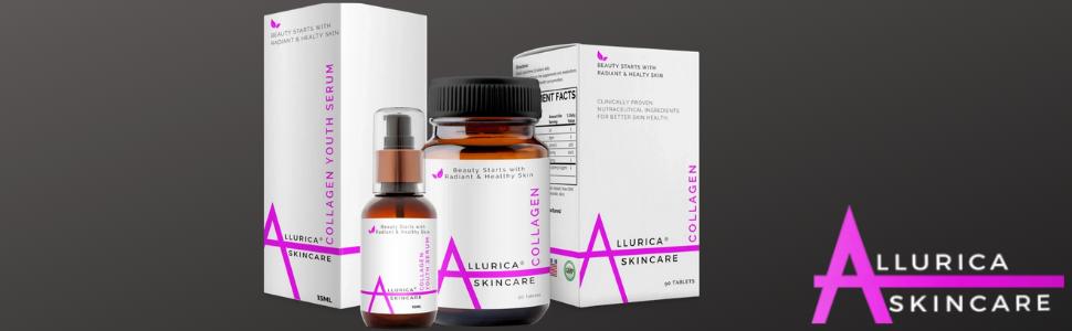 Allurica SkinCare, Collagen Serum,  Peptides, Firm