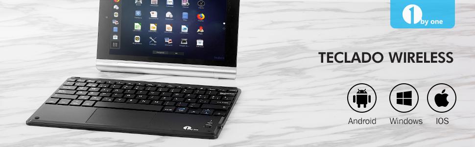 1byone Ultra-delgado teclado Inalambrico con una función de ...