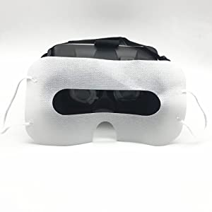 100 Pack White Color  100 Pack Sanitary VR Mask Disposable Face Cover Mask Hygiene VR Pads Prevent Eye Infections for HTC Vive, PS VR, Gear VR Oculus Rift, etc. (White) 83db1871 79ce 4dd4 94f1 b2a96ed197cb