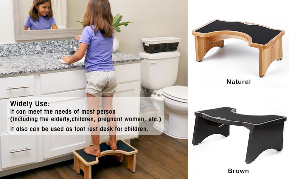 StrongTek Toilet Stool Hard-Wood Standard