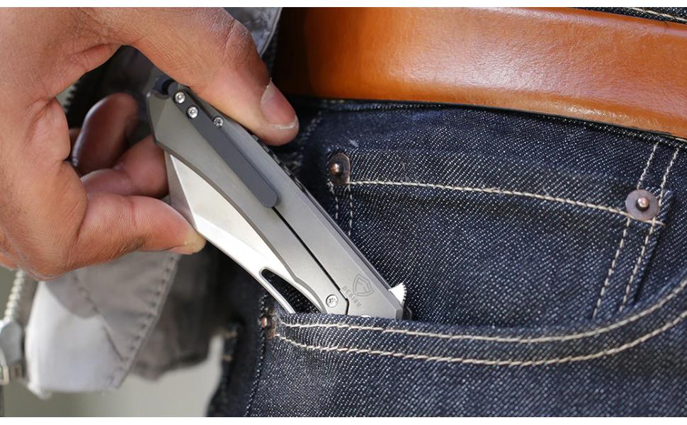 Drop + Ferrum Forge Buc Titanium Frame Lock