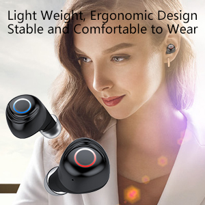 Light weight, ergonomics design Bluetooth earbud TWS
