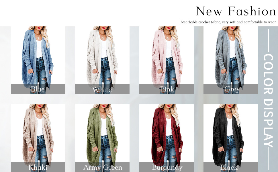 womens open front sweaters