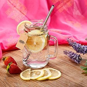 iced drinks, refreshing, beverage, mason jar mugs