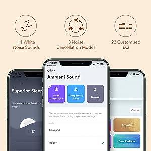 Soundcore de Anker Life Q30 Auriculares Inalámbricos Bluetooth, Cascos Inhalabricos Bluetooth, Cancelación de Ruido Activa Híbrida, Hi-Fi Sonido, 40 h ...