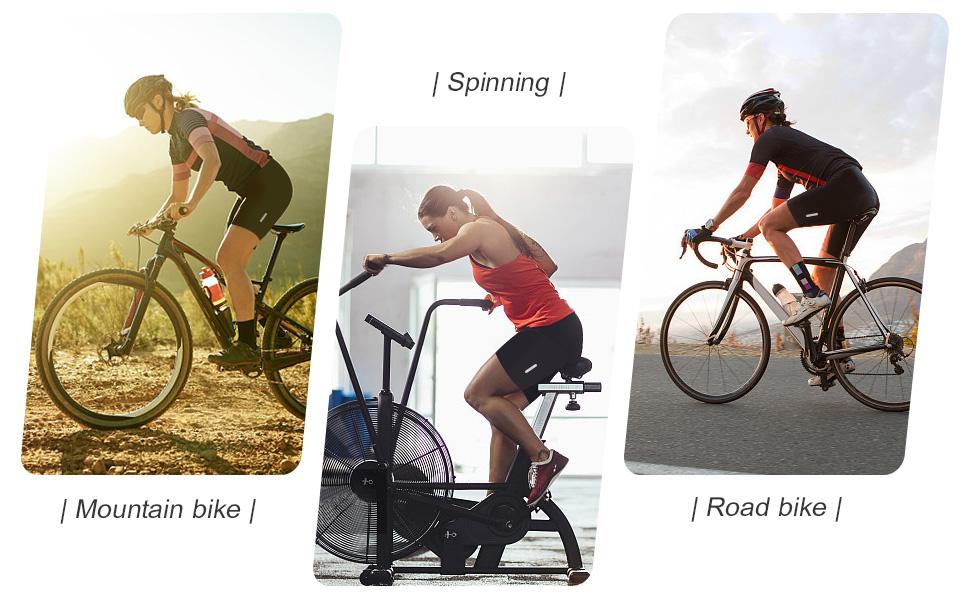 Santic Women Padded Cycle Shorts Cycling Shorts Tights Chamois Ladies Bike Black