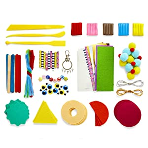arts and crafts for kids craft kits donut fake food felt sheets plastic tools paper tubes bead color