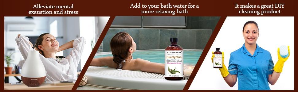 Majestic pure eucalyptus essential oil aromatherapy therapeutic grade organic