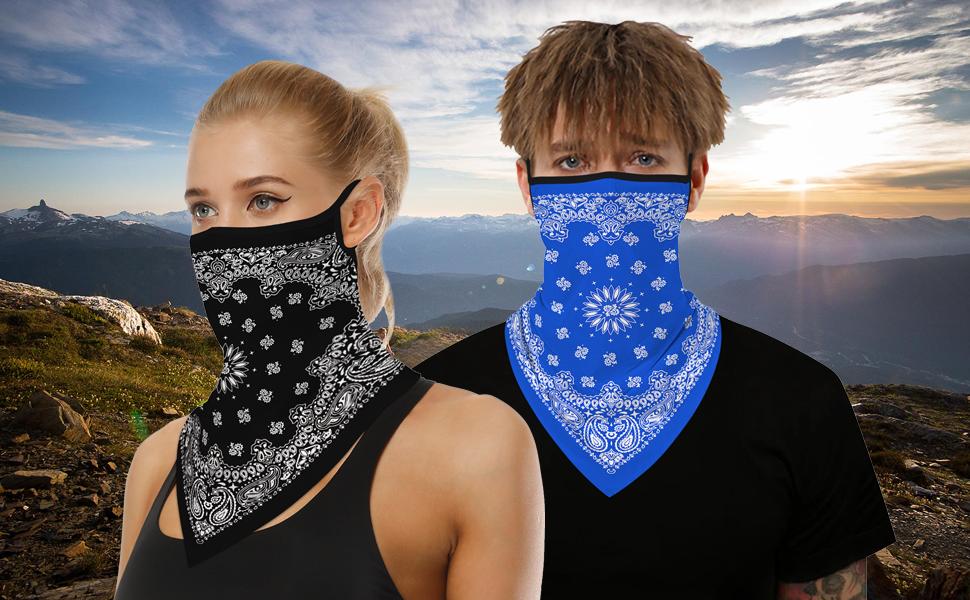 face mask bandana for men women