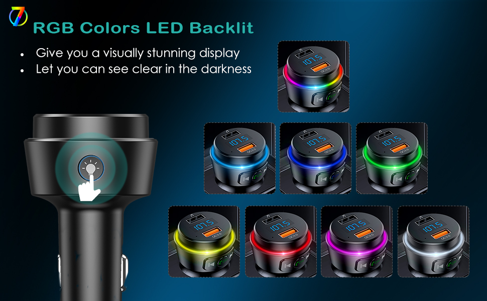 7-Colors Stylish LED appearance