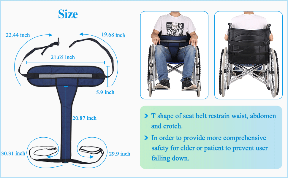 wheelchair seat belt restraint