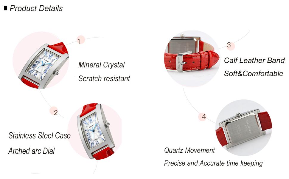 quartz watch for women business luxury elegant style fashion dress watch