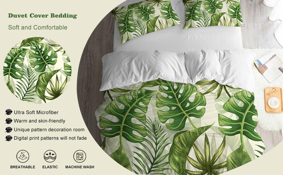 leaves bedding queen