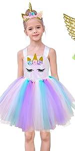 Girls Unicorn Tutu Dress