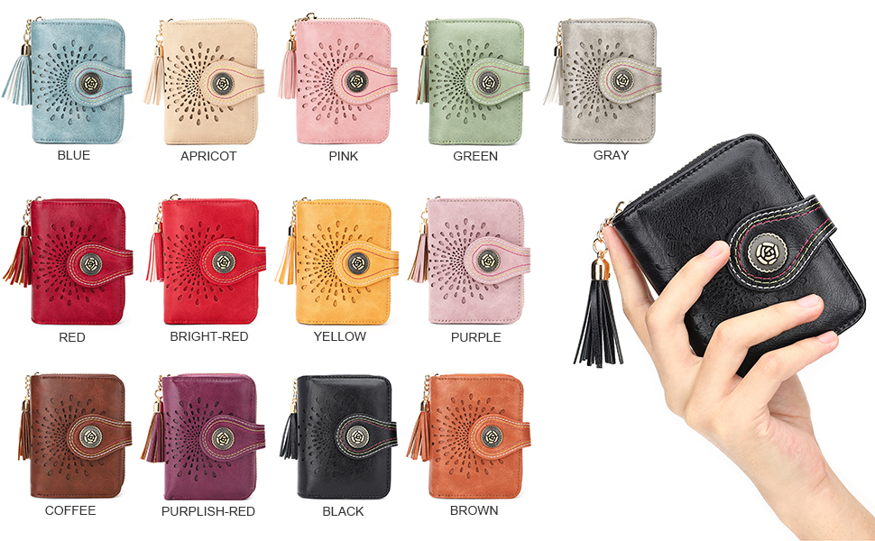 APHISON small wallets for women ladies  Bifold rfid wallet gift
