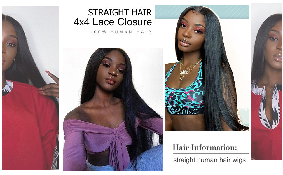 4x4 lace front wigs human hair