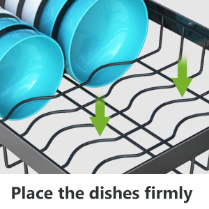 2-Tier Over Sink Dish Rack, Large Capacity Dish Drying Rack Sink Organize Stand Shelf with Utensil