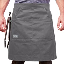 hudson cotton apron gray waist fold