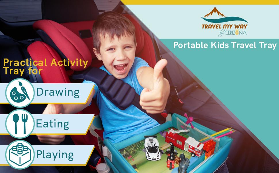 portable kids travel tray