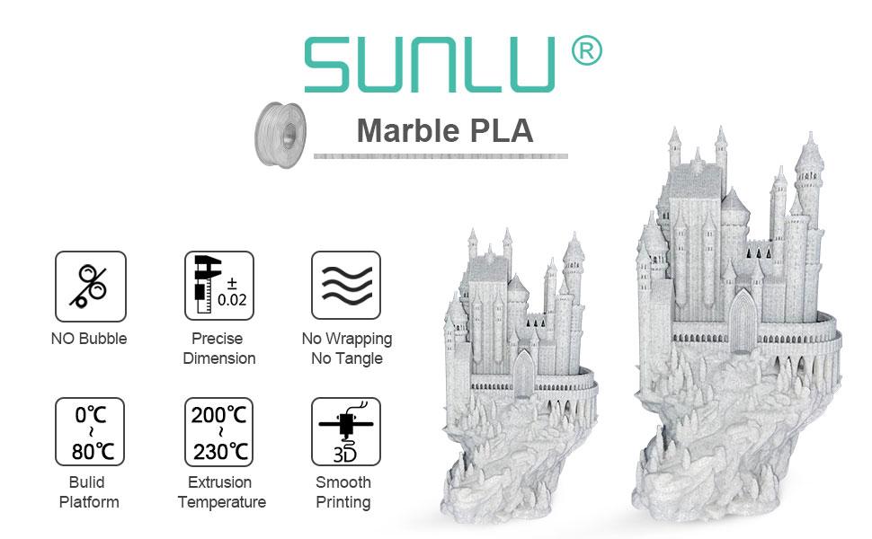 marble pla filament