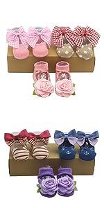 Baby girl newborn gift Christmas socks