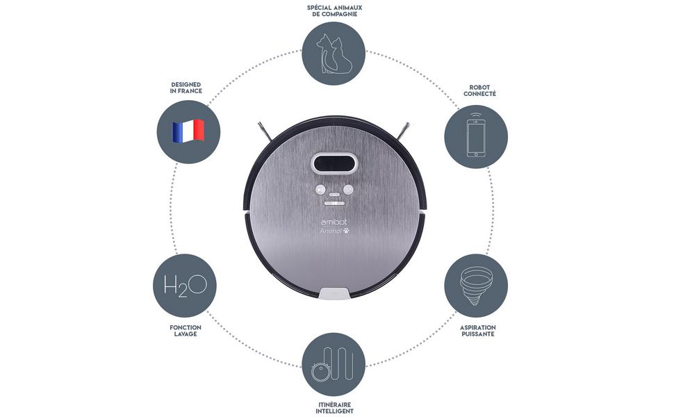AMIBOT Animal Premium H2O Connect Robots Aspirateurs et