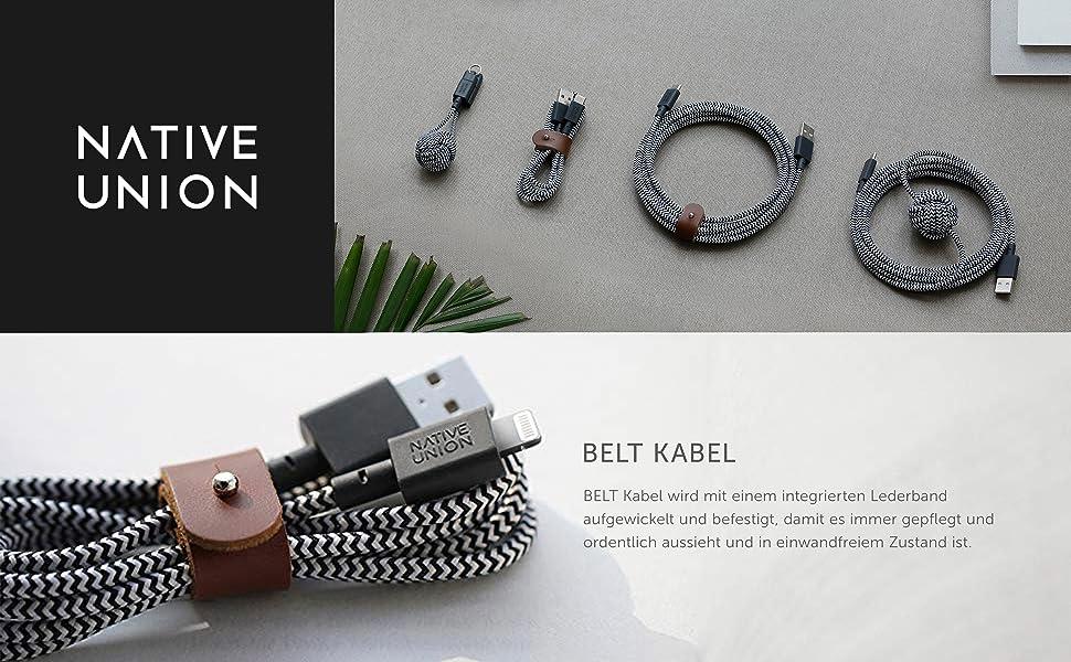 Native Union Belt Cable 1 2 M Ultra Strong Braided Elektronik