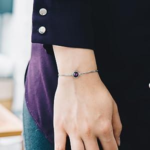 Philip Jones June (Alexandrite) Birthstone Bracelet Created with Austrian Crystals