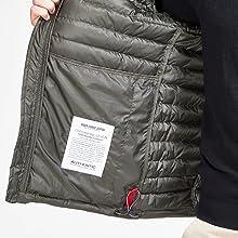 Mens waterproof jacket lightweight puffer coat winter