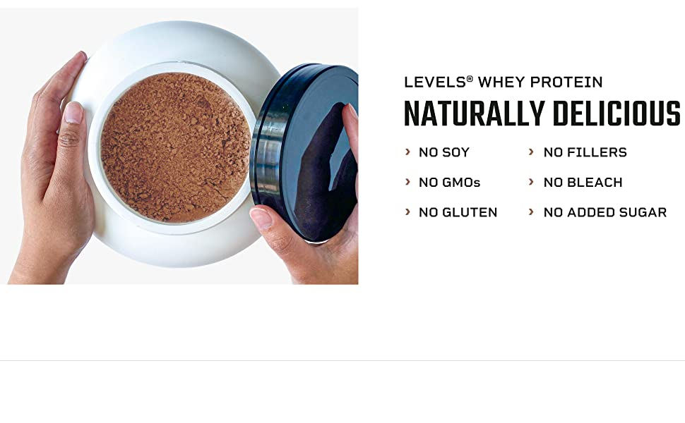 Levels Whey Naturally Delicious gluten free