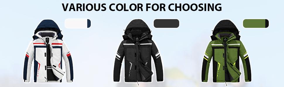 Wantdo Men's Windproof Snowboarding Jacket