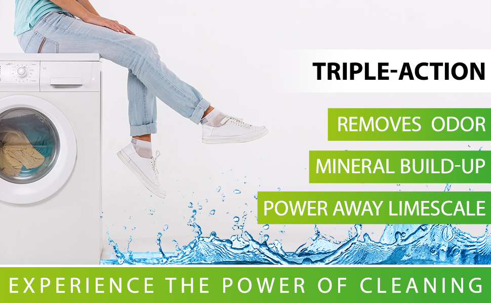 washer, removes odor, cleanse, descale