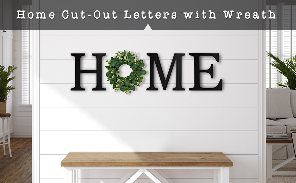 home letters for wall with wreath wall home decor rustic wood home sign with wreath wall decor