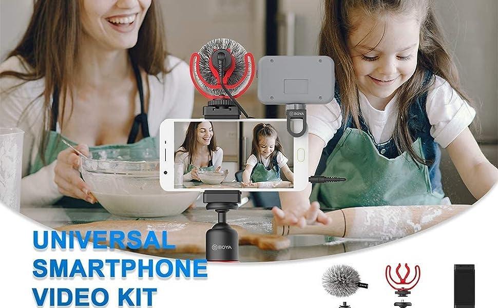 Universal smartphone video kit,handheld microphone
