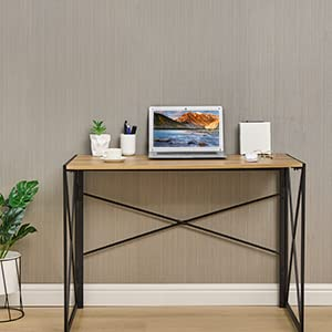 Writing Computer Desk Modern Simple Study Desk Industrial Style Folding Laptop Table for Home
