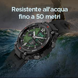 Resistente all'acqua fino a 50 metri