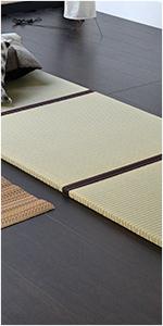 置き畳 琉球畳 畳マット ユニット畳 縁つき 中国産い草製 ピアーノ70